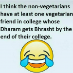 Vegetarian friend non veg friend college – whatsapp image
