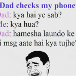 When parents check your phone – mobile meme