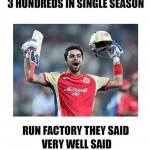 Virat Kohli the run factory after 3 sancturies in IPL