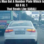 The real fan of Rajnikant – Kabali as number plate