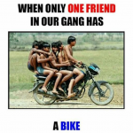 When only one friend in our gang has a bike